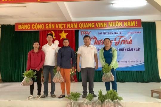 TTP Phú Yên trao tặng 20.000 cây keo giống ủng hộ người dân xã Hòa Hội