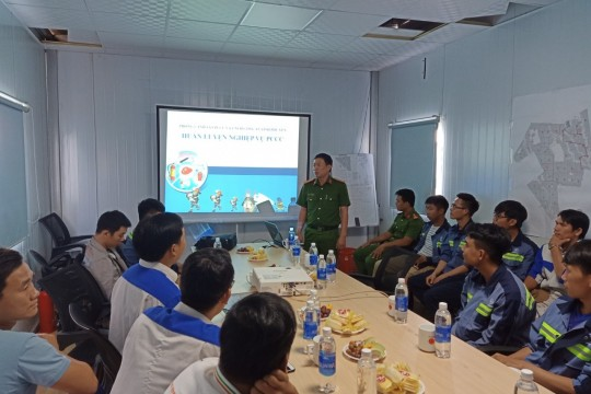 Hoa Hoi Solar Power Plant participates in a fire prevention and fighting training