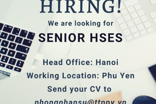 We are looking for SENIOR HSES