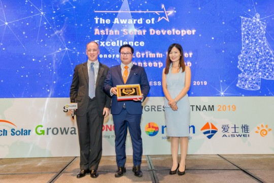 B.Grimm Power nhận giải thưởng Asian Solar Development Excellence