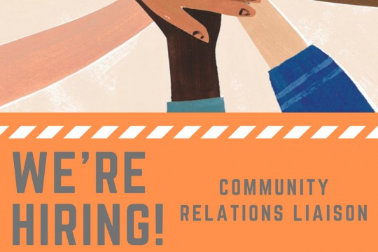 We are hiring Community Relations Liaison